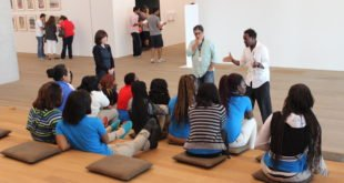 A school group at the Perez Art Museum Miami. Photo: pamm.org