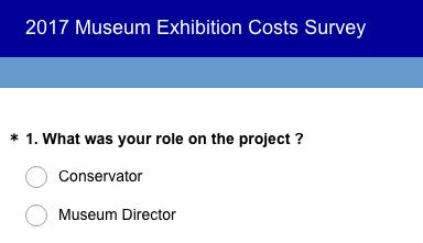 2017 Museum Exhibition Costs Survey