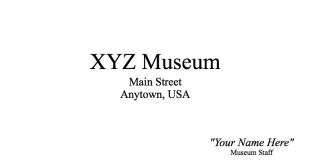 Museum Staff